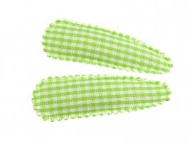 Haarspeldjes groen geruit