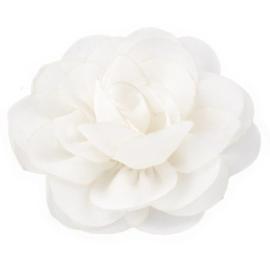 Haarbloem groot stof bloem wit