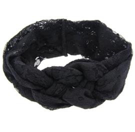 Haarbandjes kant zwart