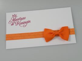 Haarbandjes elastisch strik oranje