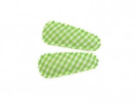 Babyhaarspeldjes groen geruit