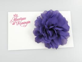 Haarbloem chiffon groot paars