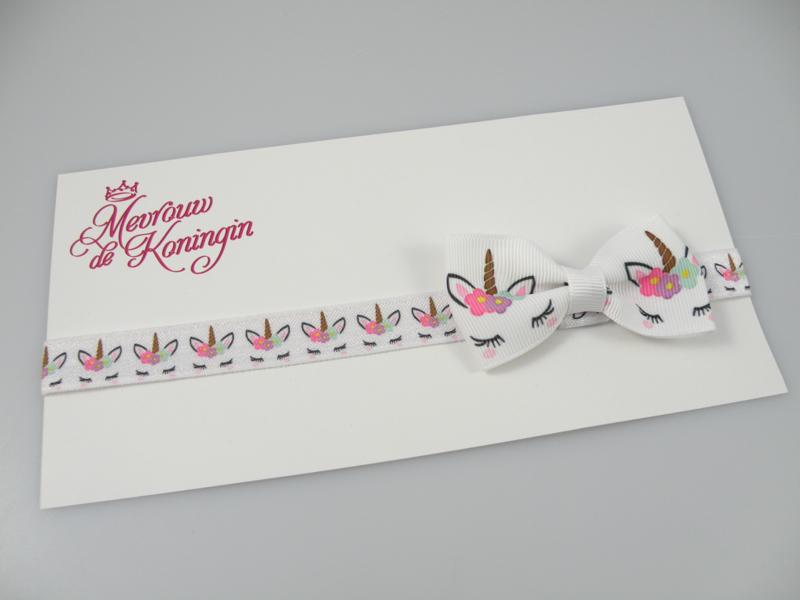 Haarbandjes elastisch strik unicorn