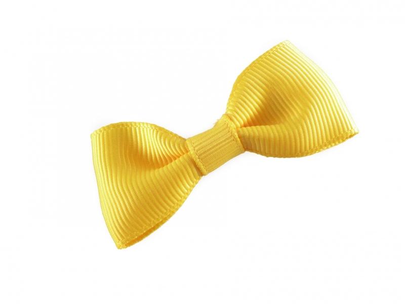 Lokknipjes kleine strik lint geel