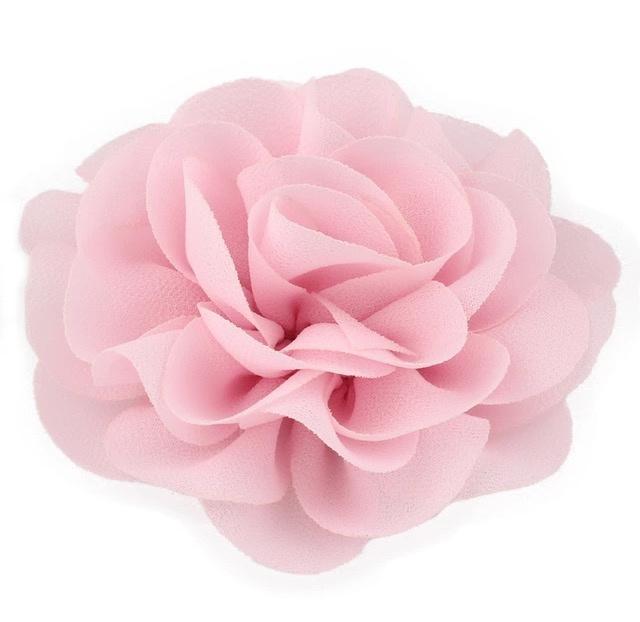 Haarbloem groot stof bloem lichtroze