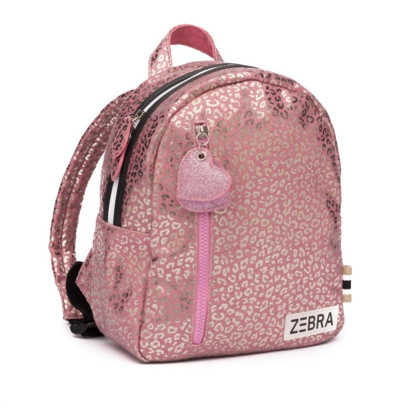 Zebra rugzakje - Pink metallic Leo (S)