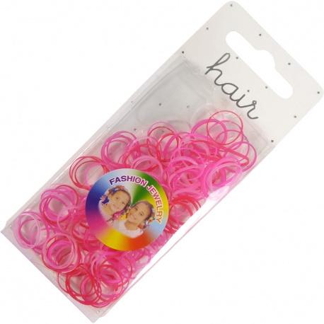 Haarelastiekjes mini roze 1,5cm