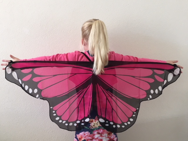 Vleugels vlinder fuchsia