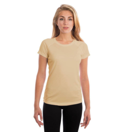 Vapor Korte Mouw Dames Solar Sublimatie Shirt Lichtgeel