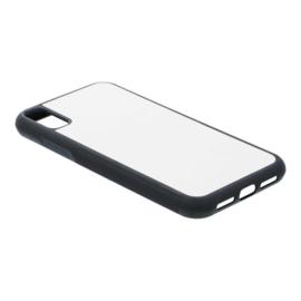 Apple iPhone XR Sublimatie Telefoonhoesje - Rubber Zwart