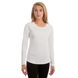 Vapor Lange Mouw Dames Solar Sublimatie Shirt Wit