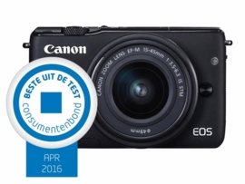 Canon EOS M10  + 15 - 45 mm IS STM zwart