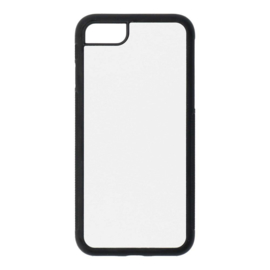 Apple iPhone 7 / 8 Sublimatie Telefoonhoesje Zwart - Rubber
