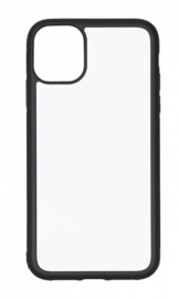 Apple iPhone 11 Sublimatie Telefoonhoesje - Rubber Zwart