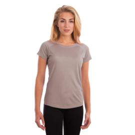 Vapor Korte Mouw Dames Solar Sublimatie Shirt Athletic Grijs