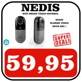 Wi-Fi Smart Videodeurbel | Bediening via App | microSD-Sleuf | HD 720p