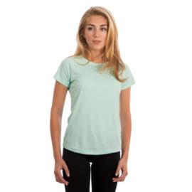 Vapor Korte Mouw Dames Solar Shirt Seagrass