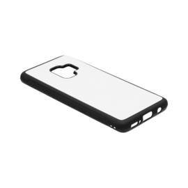Samsung Galaxy S9 Sublimatie Telefoonhoesje - Rubber Zwart