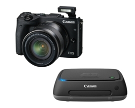Canon EOS M3 Kit 18-55 mm IS STM zwart + Connect Station CS100