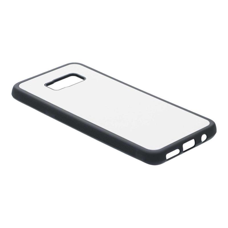 Samsung Galaxy S8 Sublimatie Telefoonhoesje - Rubber Zwart