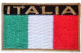 ITALIE TEXTIEL BADGE  45x30mm