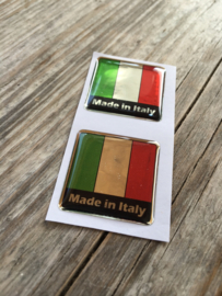 ITALIE STICKER CHROOM LOOK 25x25mm 2 stuks