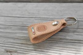 Fiat keychain leather