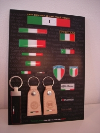DISPLAY ITALIA STICKERS VOOR AUTO  /MOTOR en SCOOTER DEALER