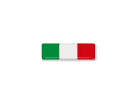 ITALIE STICKER  40x12mm 2 stuks