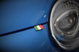 FIAT 500 FLAG LABEL