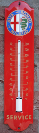 THERMOMETER ALFA ROMEO SERVICE  6.5x30 cm