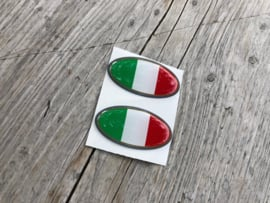 ITALIE STICKER ovaal 40x20mm 2 stuks