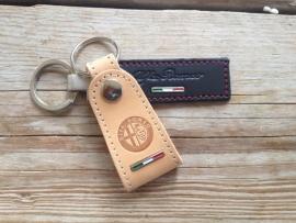 2 x Alfa Romeokeychain in leather  Model: MI-5084 + MI-5124