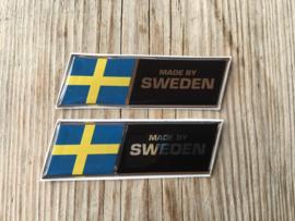 VOLVO Stickers  Afm. 85x25mm chroomline (2 stuks)