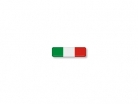 ITALIE STICKER 25x7mm 4 stuks