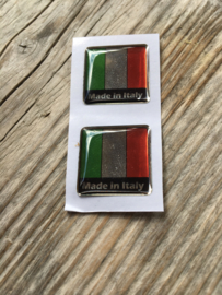 ITALIE STICKER CHROOM LOOK 20x20mm 2 stuks