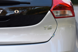 VOLVO V40 rubber vlag label