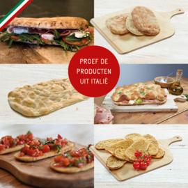 "PIZZAOVEN OPTIMA ""NAPOLI CAST IRON "" + metalen pizza spatels + pizzasnijder + proefpakket"