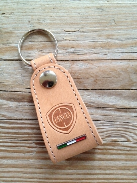 Lancia keychain leather