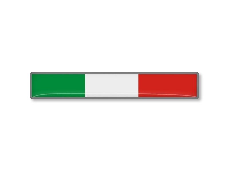 ITALIE STICKER 75x12mm 2 stuks