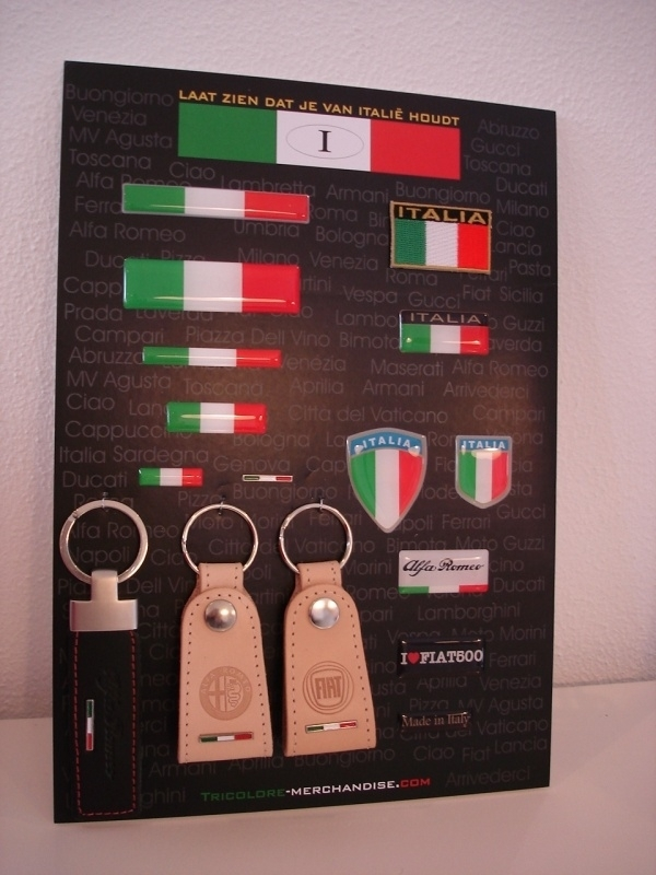 DISPLAY ITALIA STICKERS VOOR AUTO  /MOTOR en SCOOTER DEALER