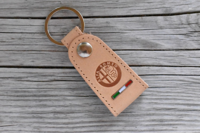 Alfa Romeo keychain leather