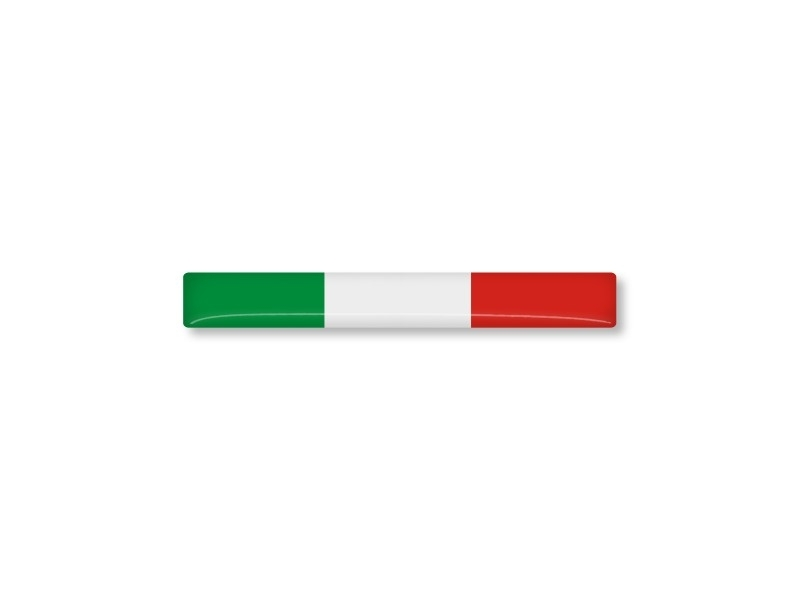 ITALIE STICKER 55x7mm 2 stuks
