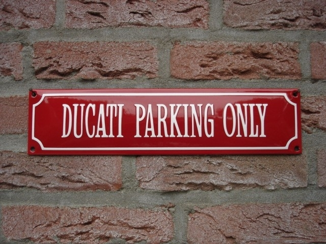 DUCATI PARKING ONLY