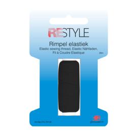 Restyle Rimpel Elastiek - Zwart
