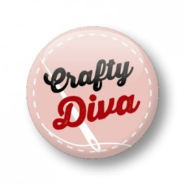 Button 'Crafty Diva'