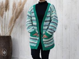 Breipakket Vest Eline GROEN - Durable Cosy Fine