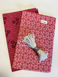 DIY Pakket mondmasker roze -- no. 203