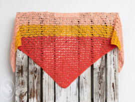 Haakpakket Horizon Shawl Coral / Honey