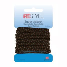 Restyle Super Elastiek 4,5mm - Zwart